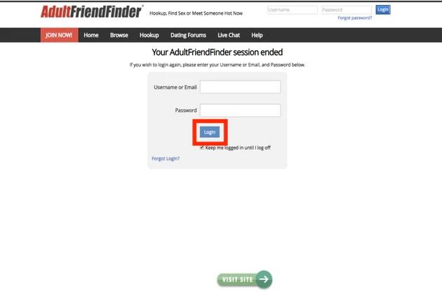 Adult friend finder login